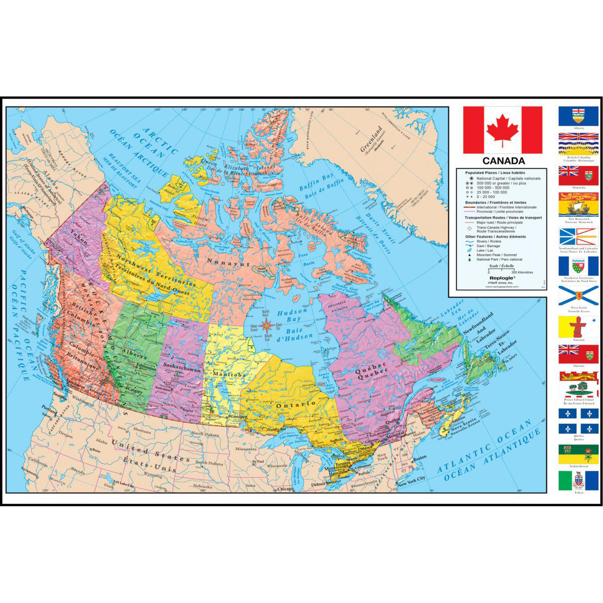 Canada Wall Map