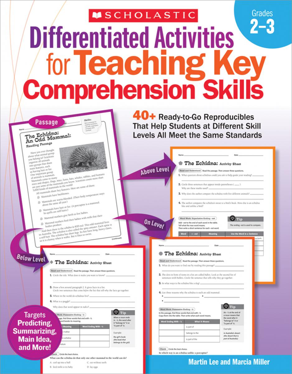 Differentiated Activities for Teaching Key Comprehension Skills Grades 2-3
