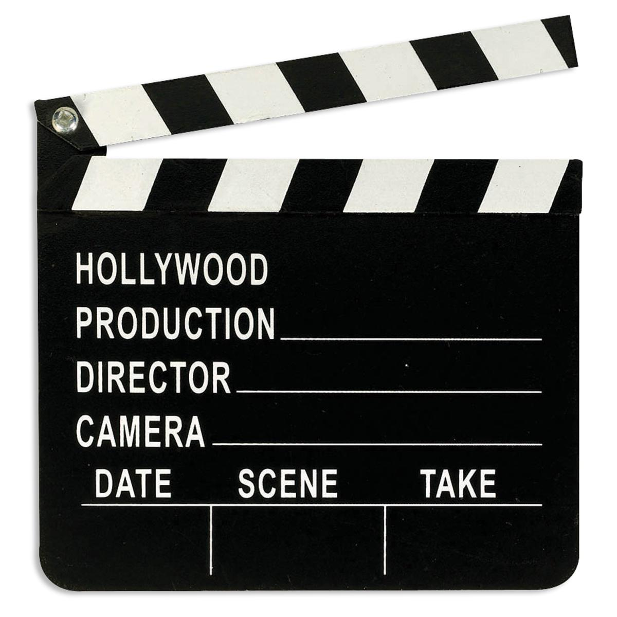 Wooden Hollywood Director's Clapboard