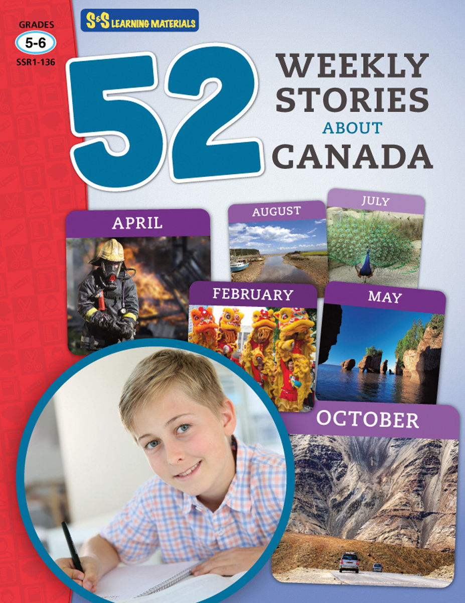 52 Weekly Stories About Canada: Gr. 5-6