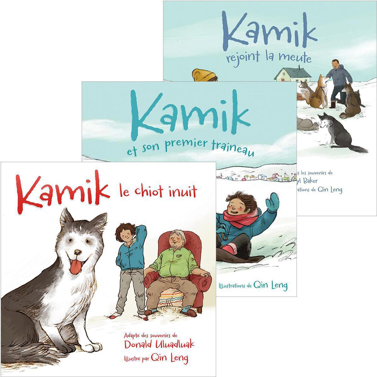 Trio Kamik le chiot inuit