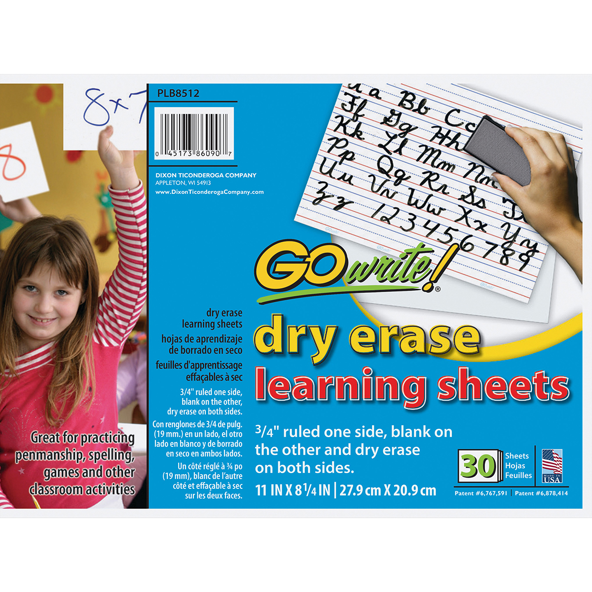 GoWrite!® Dry Erase Learning Sheets 30-Pack
