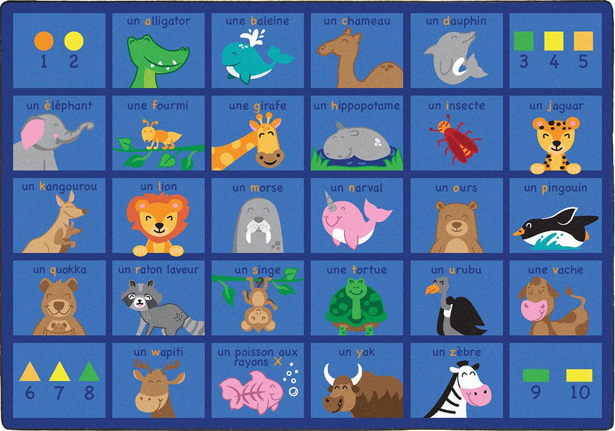 Tapis l'alphabet avec les animaux