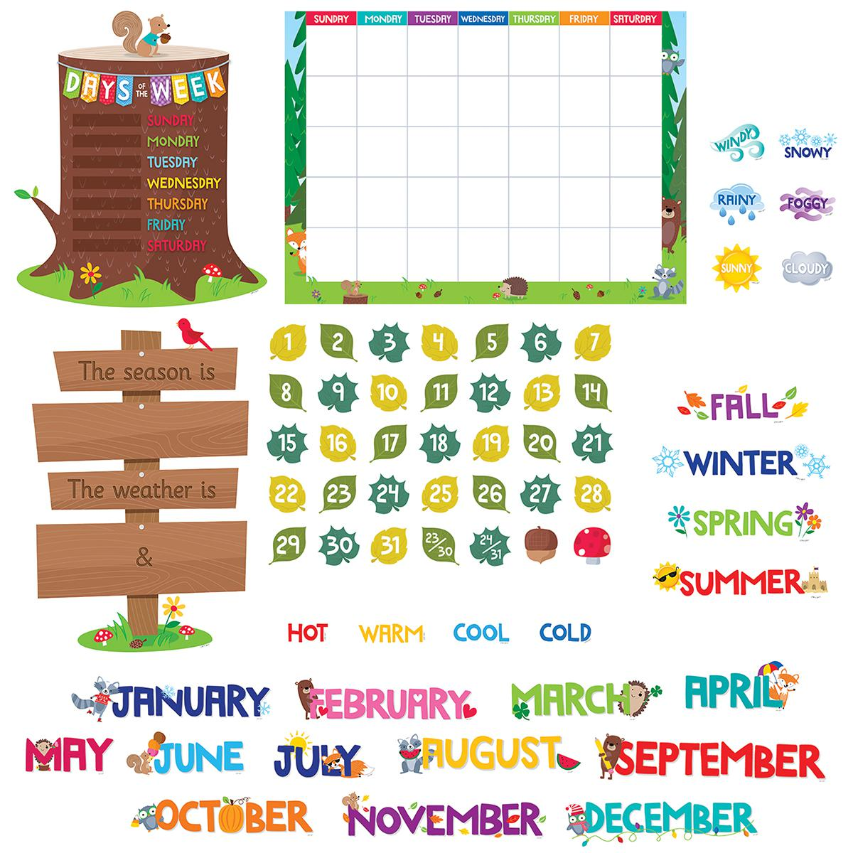 Woodland Friends Calendar Bulletin Board Set