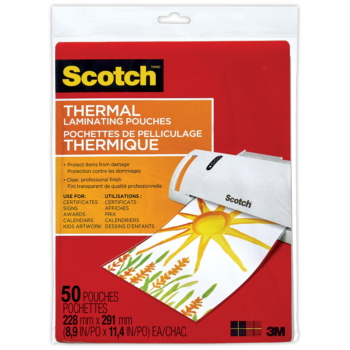 Scotch® Thermal Laminating Pouches 50-Pack