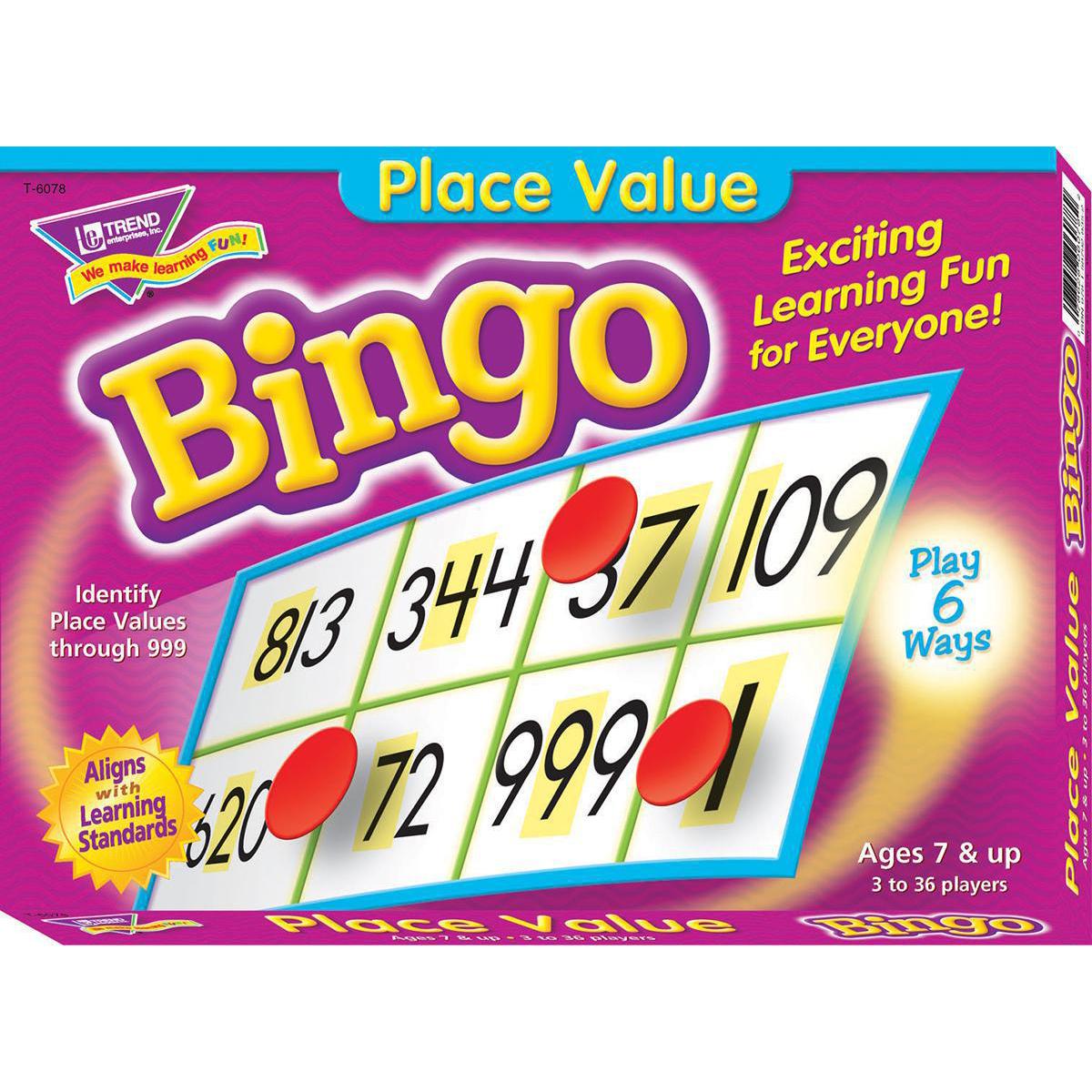 Bingo des valeurs de position