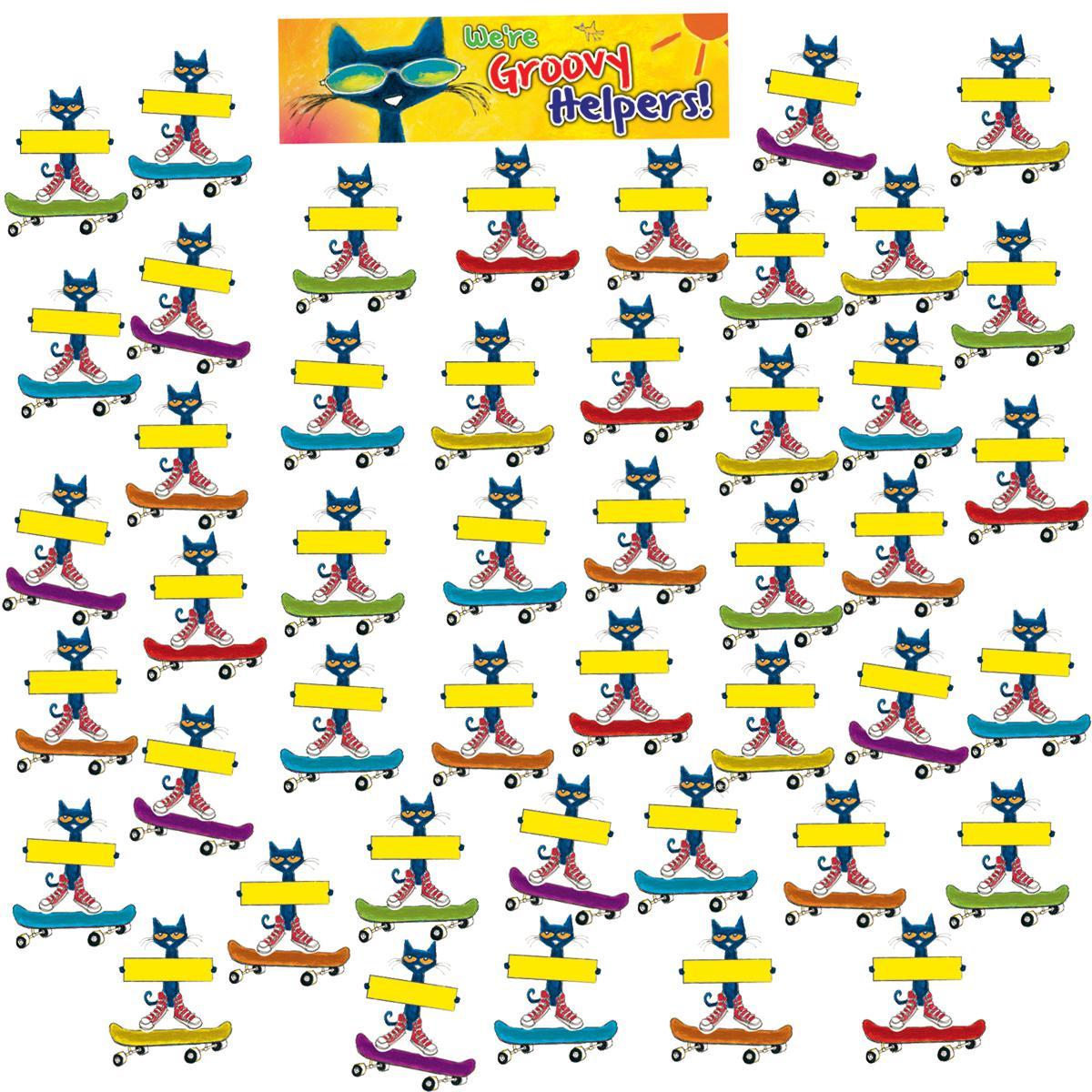 Pete the Cat© Groovy Classroom Jobs Mini Bulletin Board Set