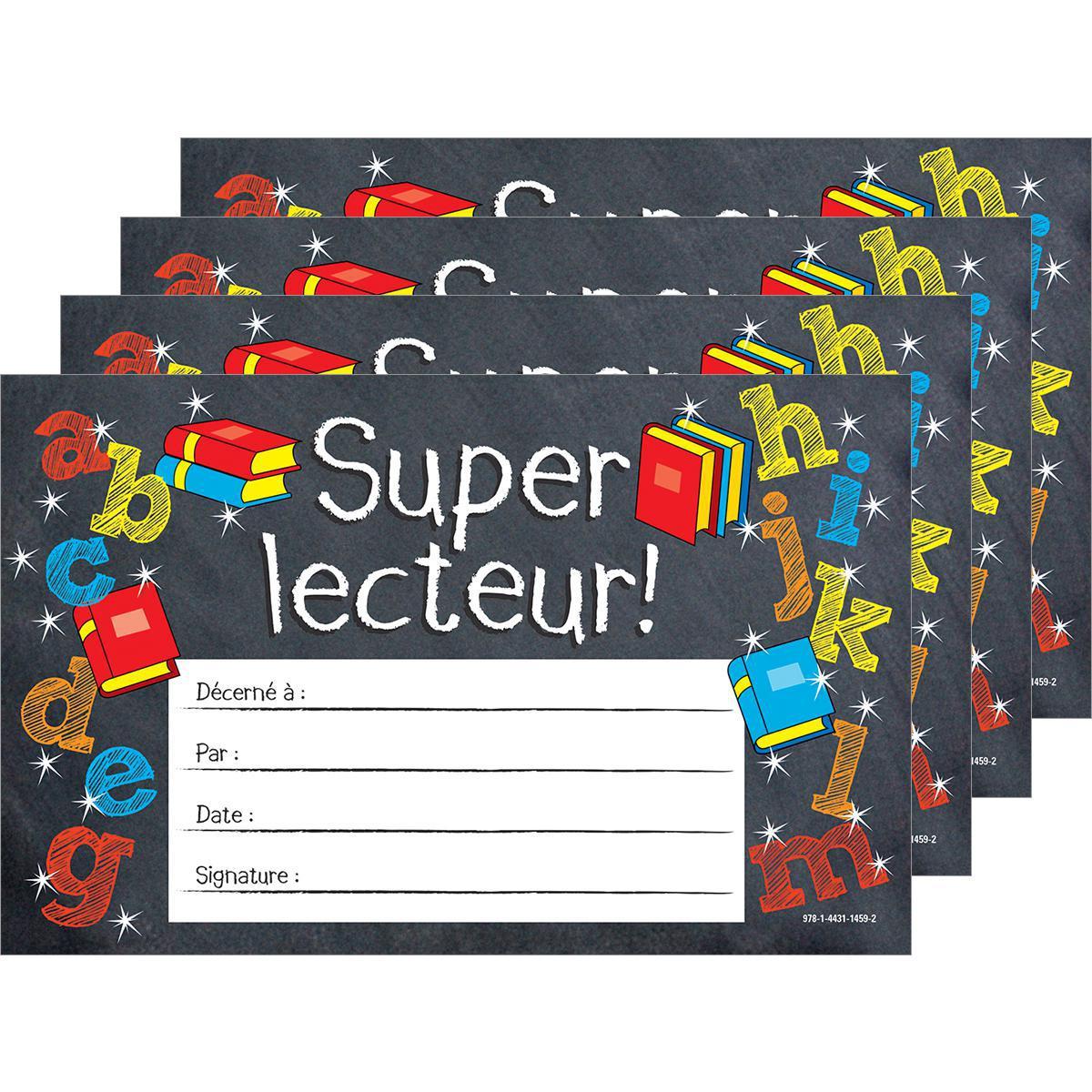 Certificats Super lecteur!