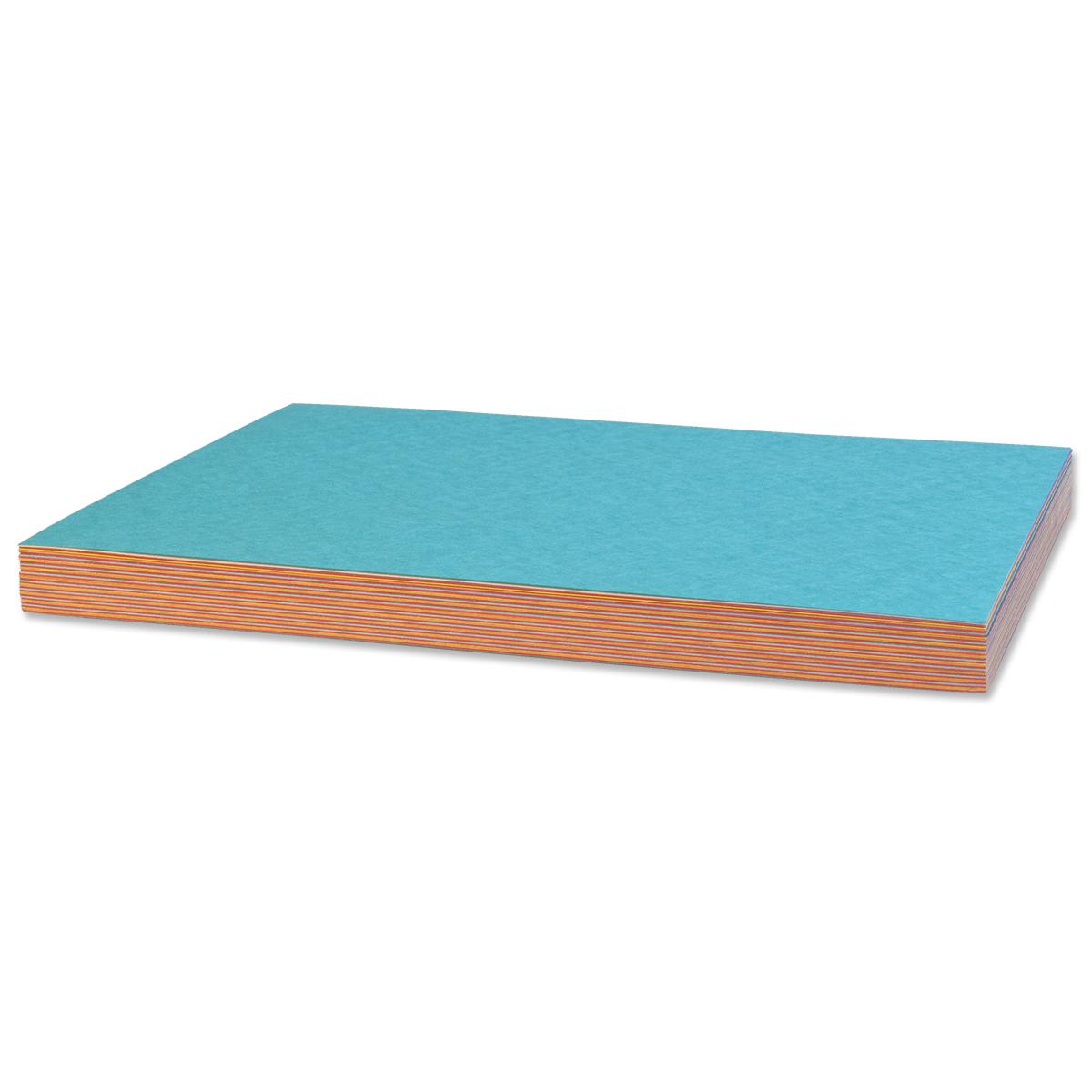 50 feuilles de papier de bricolage : assortis