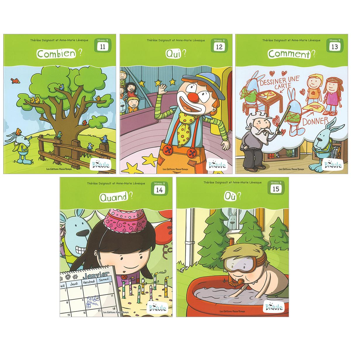 Livrets Bidule : niveau B, livres 11 à 15