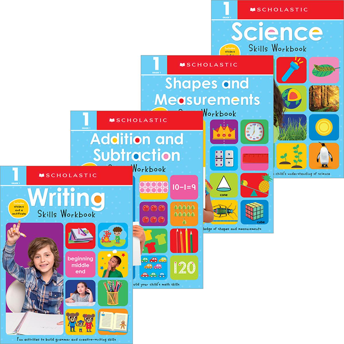 Scholastic Early Learners: First Grade Workbook Pack