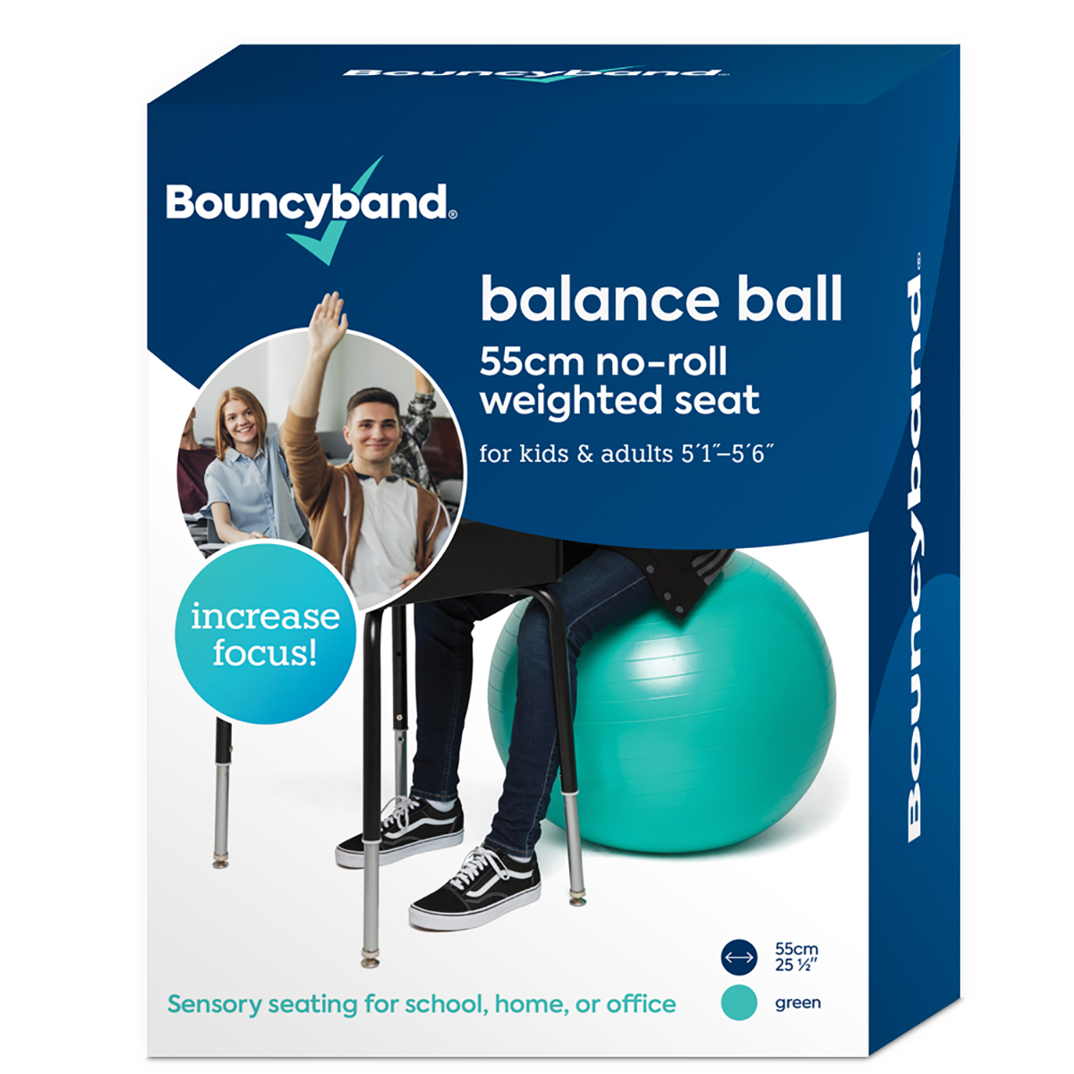 Weighted Balance Ball - Mint Green 55cm