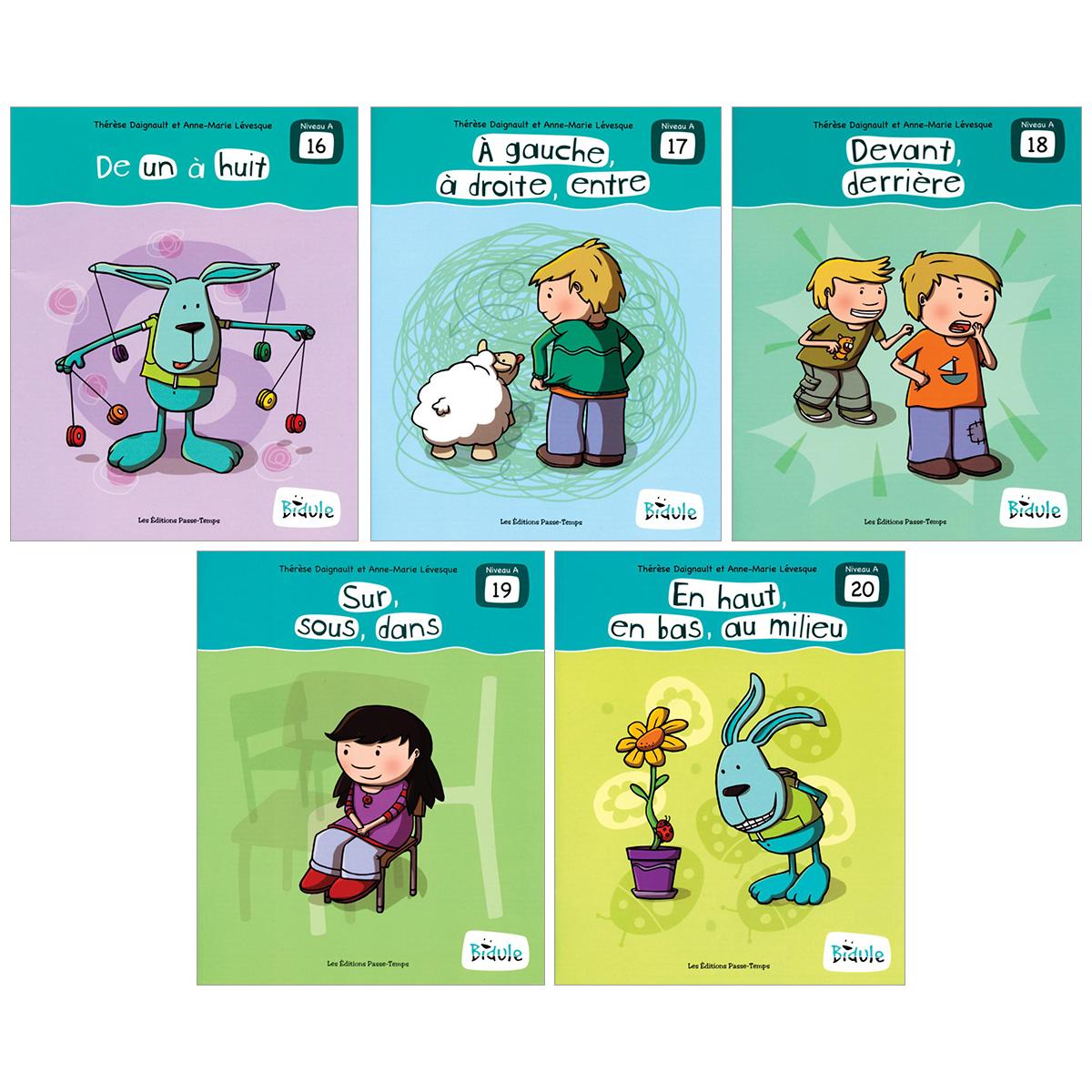 Livrets Bidule : niveau A, livres 16 à 20