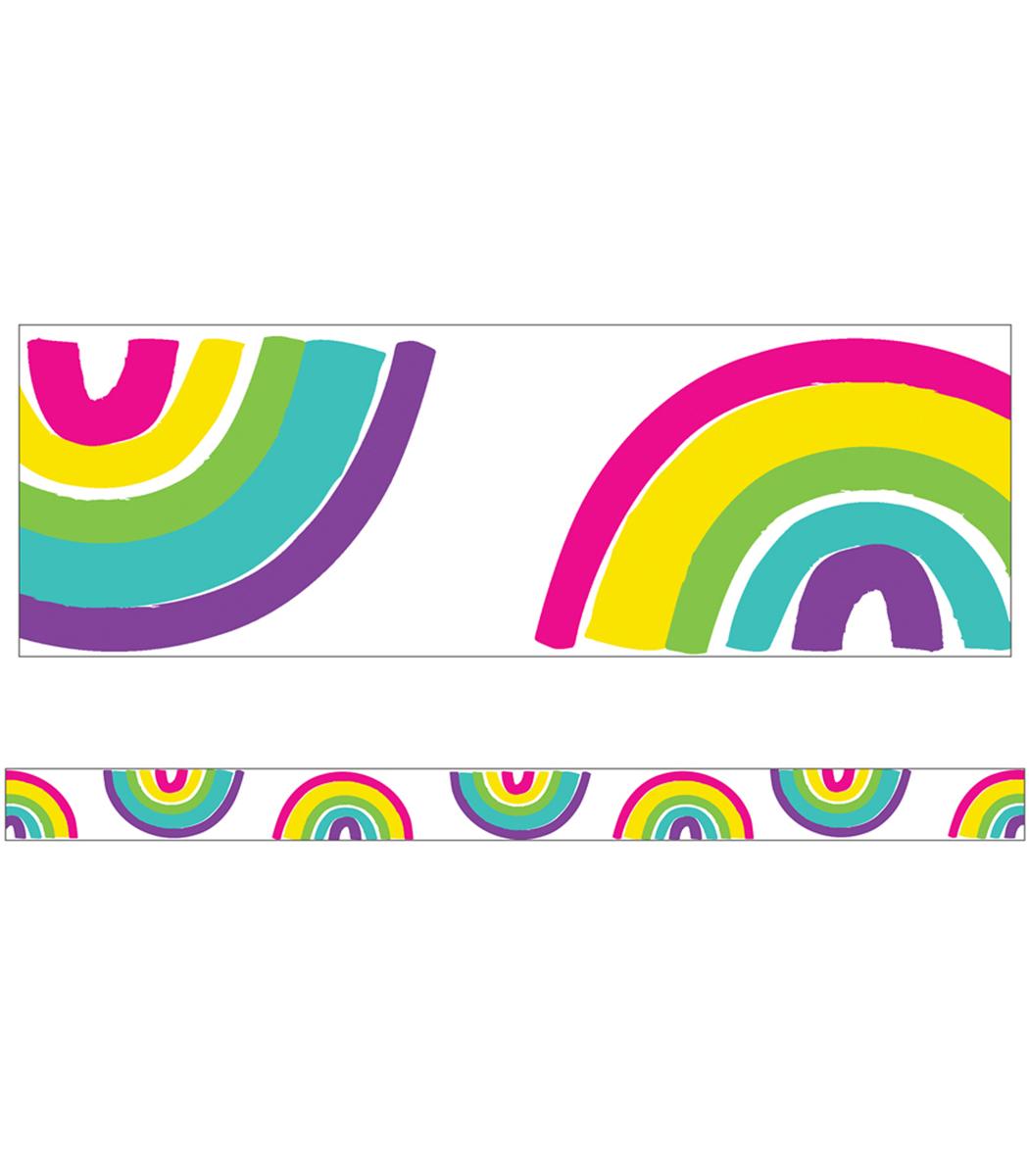 Rainbows Straight Border