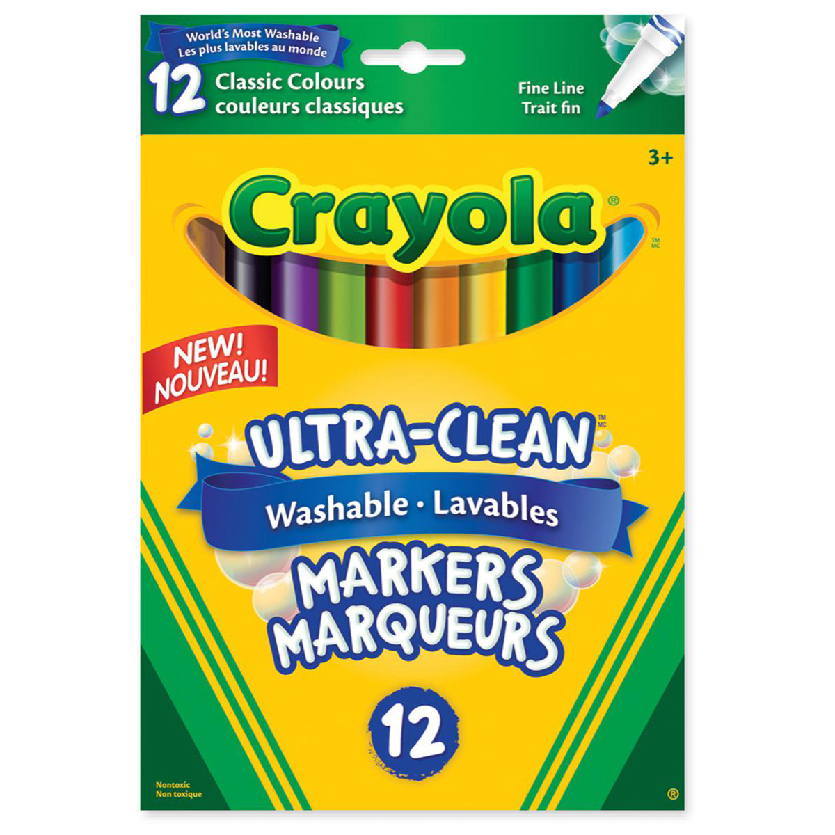 Crayola® Washable Original Markers: Fine Tip, 12-Pack