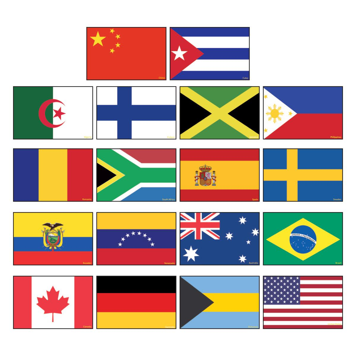 International Flag Accents