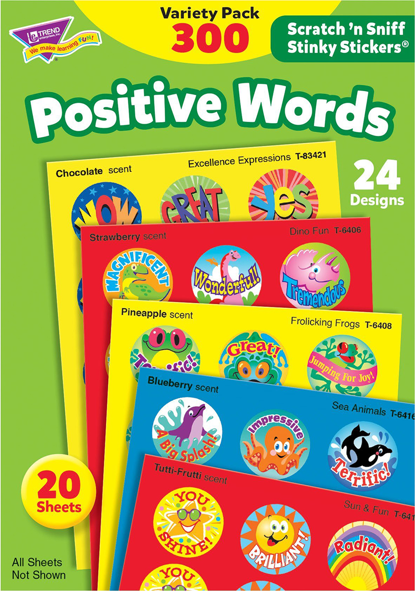 Positive Words Stinky Stickers Variety Pack