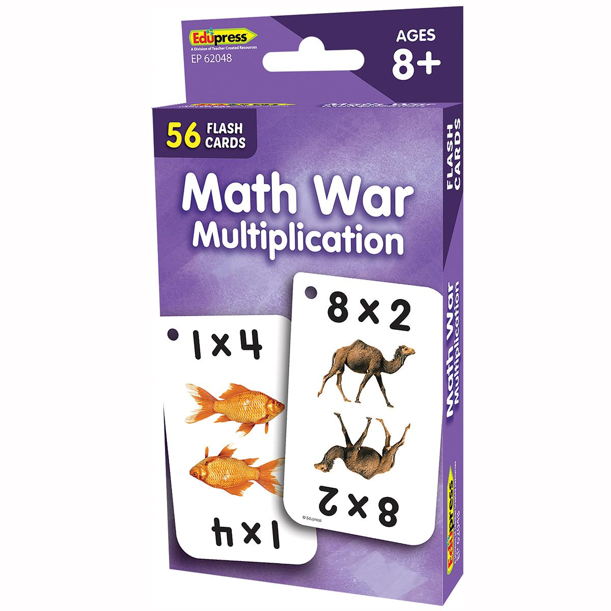 Math War Multiplication Flashcards