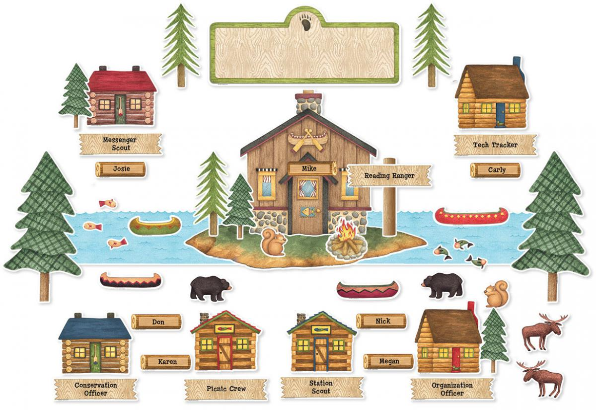 Rustic Retreat Bulletin Board Set