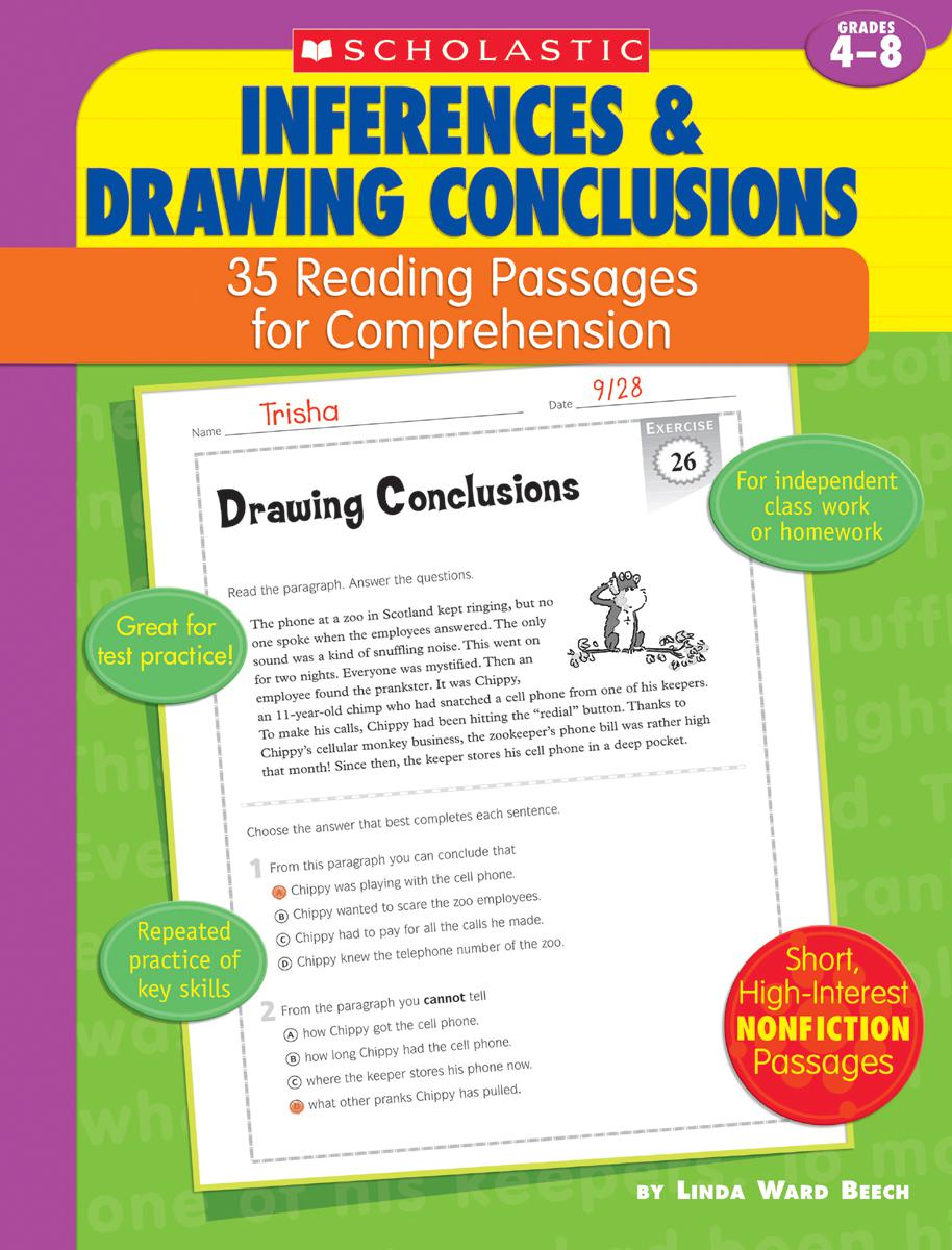 35 Reading Passages for Comprehension Inferences & Drawing Conclusions