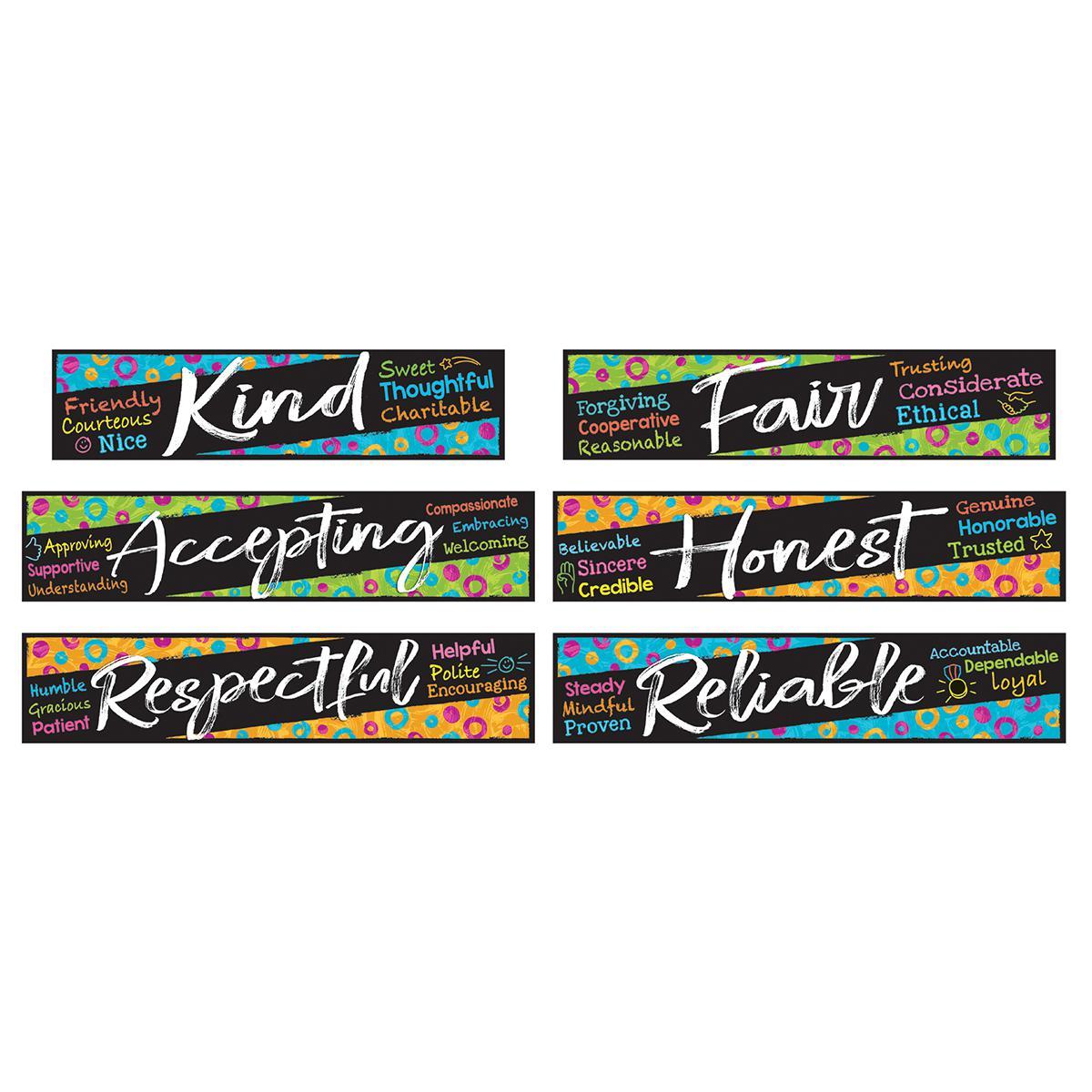 Colour Harmony Character Traits Mini Bulletin Board Set