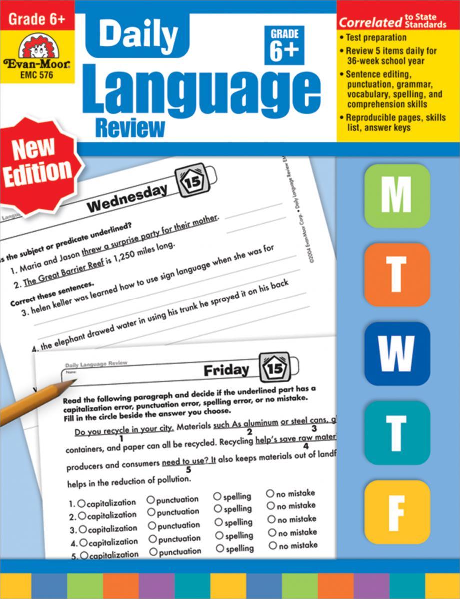 Daily Language Review Grade 6+