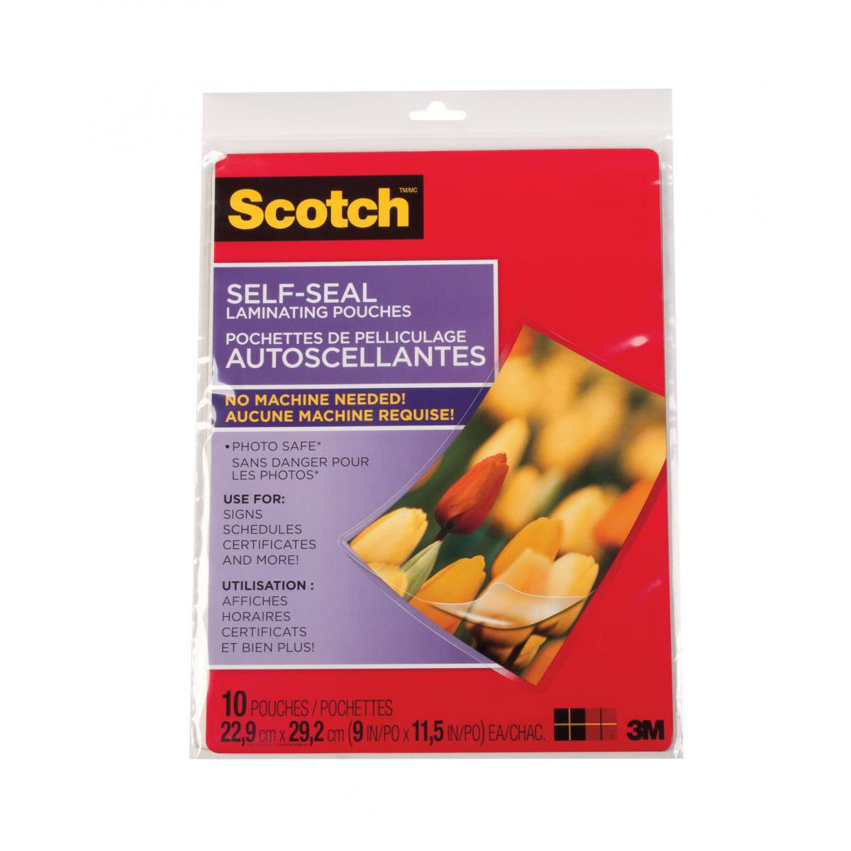 Scotch® Self-Seal Laminating Pouches 10-Pack