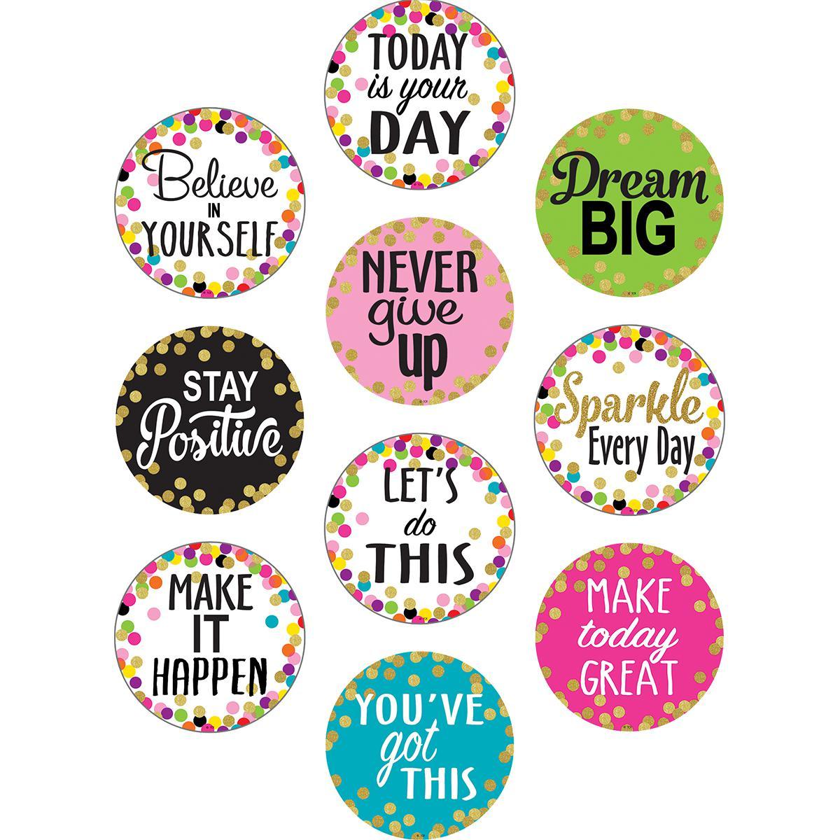 Confetti Positive Sayings