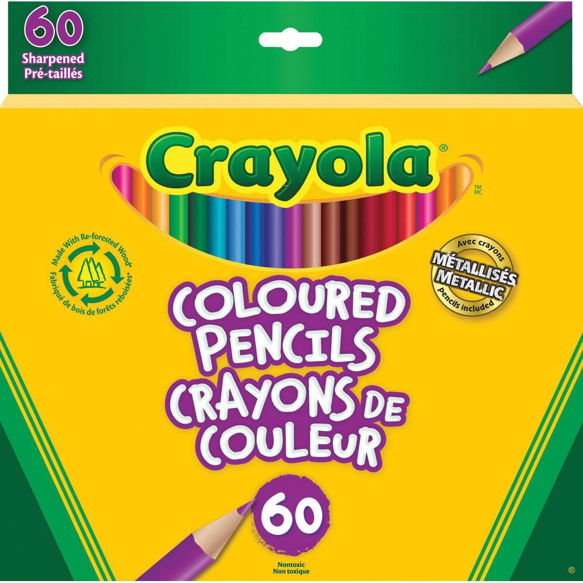 Crayola® Coloured Pencils: 60-Pack