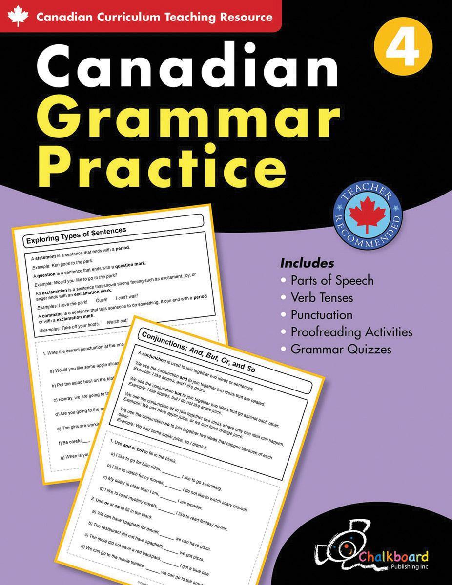 Canadian Grammar Practice Grade 4