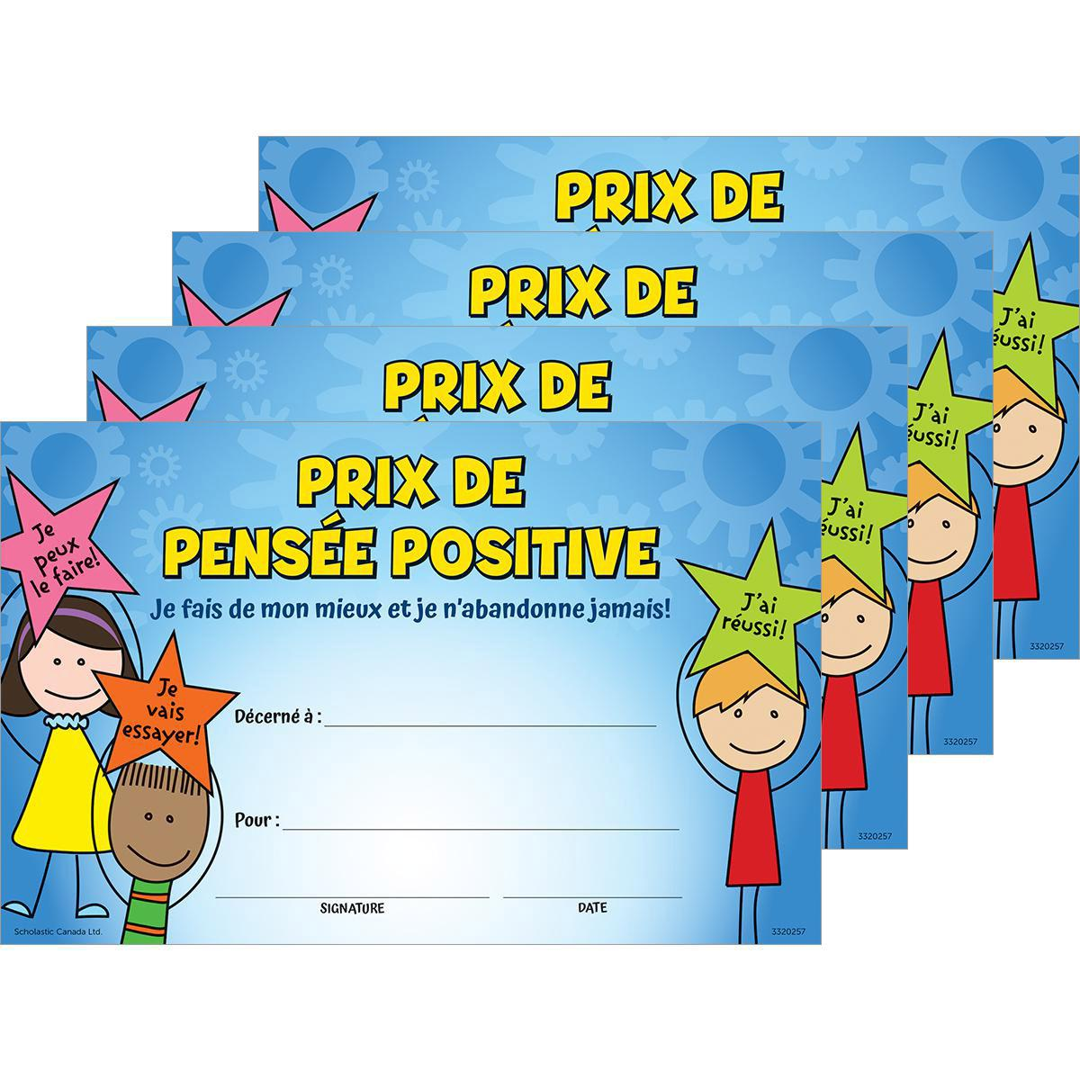 Certificats Pensée positive