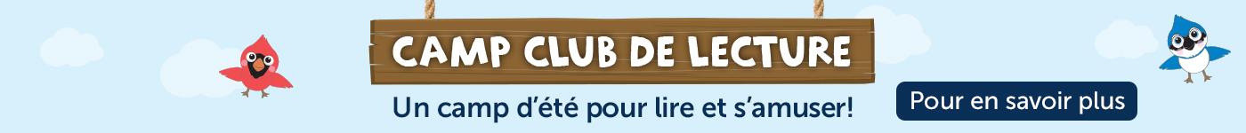 Camp club de lecture. Un camp d'été gratuit pour lire et s'amuser!