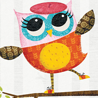 (PDF) August, Week 7 (Monday) Owl Diaries - Colouring Page