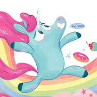 (PDF) July, Week 4 (Monday) Magical Creatures - It's Not All Rainbows - Colour a Unicorn Horn