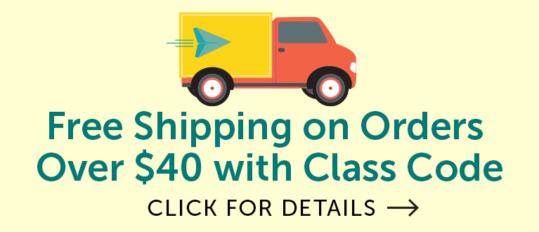 Free Shipping on Orders ovre $40 with Class Code