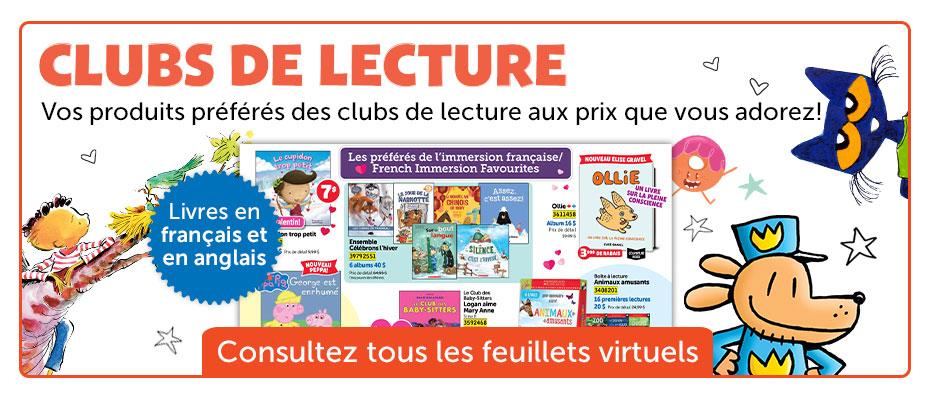 Clubs De Lecture. Vos produits préférés des clubs de lecture aux prix que vous adorez! Consultez les feuillets virtuels.