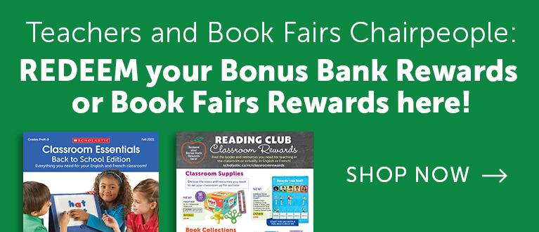 Redeem your Bonus Bank REWARDS or Book Fairs Rewards Here!