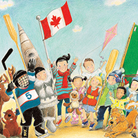 (PDF) July, Week 1 (Friday) Celebrate Canada! - Good Morning Canada! - Colouring Page