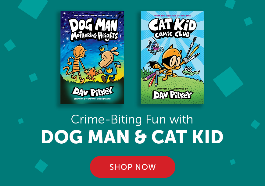 Crime-Biting Fun with Dog Man and Cat Kid. Shop Now